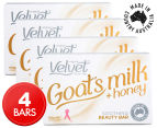 4 x Velvet Goat's Milk & Honey Soothing Beauty Bar 100g 1