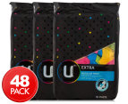 3 x   U By Kotex Extra Regular Pads With Wings 16pk 1