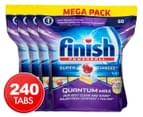 4 x 60pk Finish Quantum Max Powerball Super Charged Dishwashing Tabs Lemon Sparkle  1