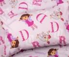 Dora the Explorer Single Bed Sheet Set - Pink/Multi 2