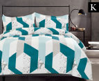 Gioia Casa Oliver King Bed Quilt Cover Set - Mixed 1