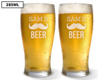 2 x Personalised Standard Beer Glass 285mL 1