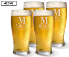 4 x Personalised Standard Beer Glass 425mL 1