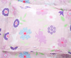 Happy Kids Fairy Wonderland Single Bed Printed Quilt Cover Set - Pink 4