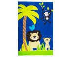 Happy Kids Jungle Single Bed Quilt Cover Set - Navy Blue 6