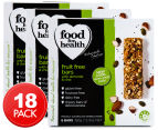 3 x Food For Health Fruit Free Bars Almond & Chia 6pk 1