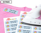 Personalised Iron-On Clothing Labels 44-Pack 1