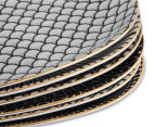 Cooper & Co. Gold Trim 23.5x15.5cm Plate 6-Pack - Assorted Black/White 5