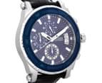 GUESS Men's 46mm Pinnacle Watch - Black/Blue 2