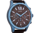 GUESS Men's 45mm Elevation Watch - Brown/Blue 2