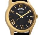 GUESS Men's 44mm Metropolitan Watch - Black/Gold 2
