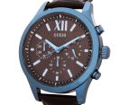 GUESS Men's 45mm Elevation Watch - Brown/Blue 3