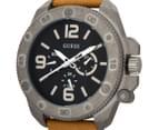 GUESS Men's 46mm Viper Watch - Sand/Grey/Black 3