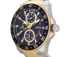 GUESS Men's 46mm Jet Watch - Silver/Gold/Blue 3