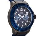 GUESS Men's 45mm Rigor Watch - Blue/Gunmetal 2