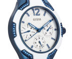 GUESS Women's 36mm Centre Stage Watch - White/Blue 2