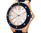 GUESS Women's 39mm Overdrive Watch - Navy/Rose Gold/Silver 3