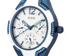GUESS Women's 36mm Centre Stage Watch - White/Blue 3