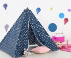 Happy Kids 135x130cm Teepee Tent - Navy Stars 2