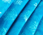 Happy Kids 135x130cm Teepee Tent - Blue Snowflake 3