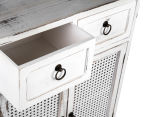 Lorette French Chic 75x60x30cm Double Door Drawer Cabinet - Antique White 5