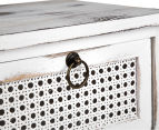 Lorette French Chic 59x35x30cm 3-Drawer Side Table - Antique White 6