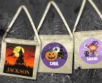 Personalised Kids' Halloween Tote Bag - Beige 5