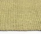 Maple & Elm 220x150cm Natural Fibre Chunky Knit Jute Rug - Green 4