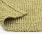 Maple & Elm 220x150cm Natural Fibre Chunky Knit Jute Rug - Green 6