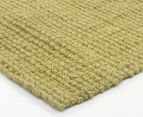 Maple & Elm 270x180cm Natural Fibre Chunky Knit Jute Rug - Green 3