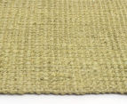 Maple & Elm 270x180cm Natural Fibre Chunky Knit Jute Rug - Green 4