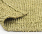 Maple & Elm 270x180cm Natural Fibre Chunky Knit Jute Rug - Green 6