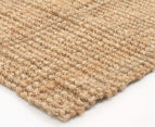 Maple & Elm 270x180cm Natural Fibre Chunky Knit Jute Rug - Natural 3