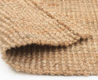 Maple & Elm 270x180cm Natural Fibre Chunky Knit Jute Rug - Natural 6