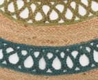 Maple & Elm 150cm Summer Loop Jute Rug - Turquoise/Green 3