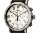 Timex 40mm Weekender Vintage Chronograph Watch - Olive/Cream 3