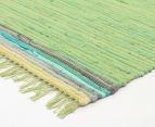 Maple & Elm 270x180cm Summer Citrus Cotton Rug - Green 2