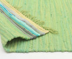 Maple & Elm 270x180cm Summer Citrus Cotton Rug - Green 4