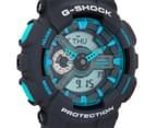 Casio G-Shock Men's 50mm GA110TS-8A2 Duo Watch - Grey/Blue 2