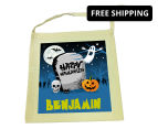 Personalised Kids' Halloween Tote Bag - Beige 1