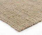 Maple & Elm 300x80cm Natural Fibre Chunky Knit Jute Runner - Natural Silver 2