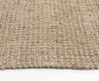 Maple & Elm 300x80cm Natural Fibre Chunky Knit Jute Runner - Natural Silver 3