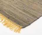 Maple & Elm 320x230cm Summer Fringe Cotton Rug - Yellow 2