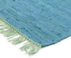 Maple & Elm 270x180cm Summer Fringe Cotton Rug - Blue 2
