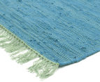Maple & Elm 320x230cm Summer Fringe Cotton Rug - Blue 2