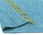 Maple & Elm 320x230cm Summer Fringe Cotton Rug - Blue 4