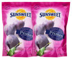 2 x Sunsweet Pitted Prunes 340g 1