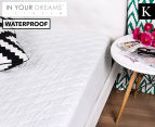 Waterproof King Quilted Mattress Protector - White 1