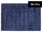 Classic Block Colour 165x115cm Shag Rug - Blue 1