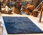 Classic Block Colour 165x115cm Shag Rug - Blue 2